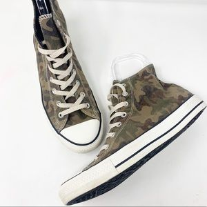 Converse Camouflage High Top Sneakers Sz 10.5